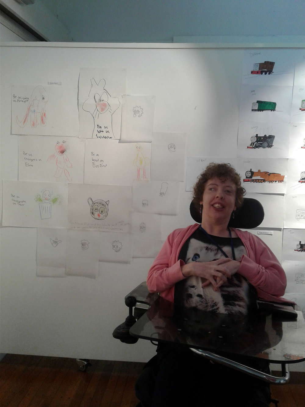 Leonie Brunt and her artwork