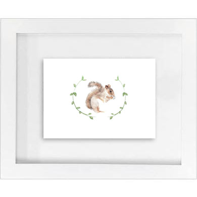 SQUIRREL W/GARLAND PRINT   SALE!  $10
