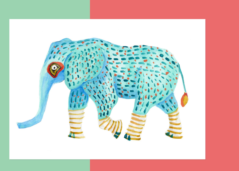 5 X 7 OAXACA ELEPHANT $50