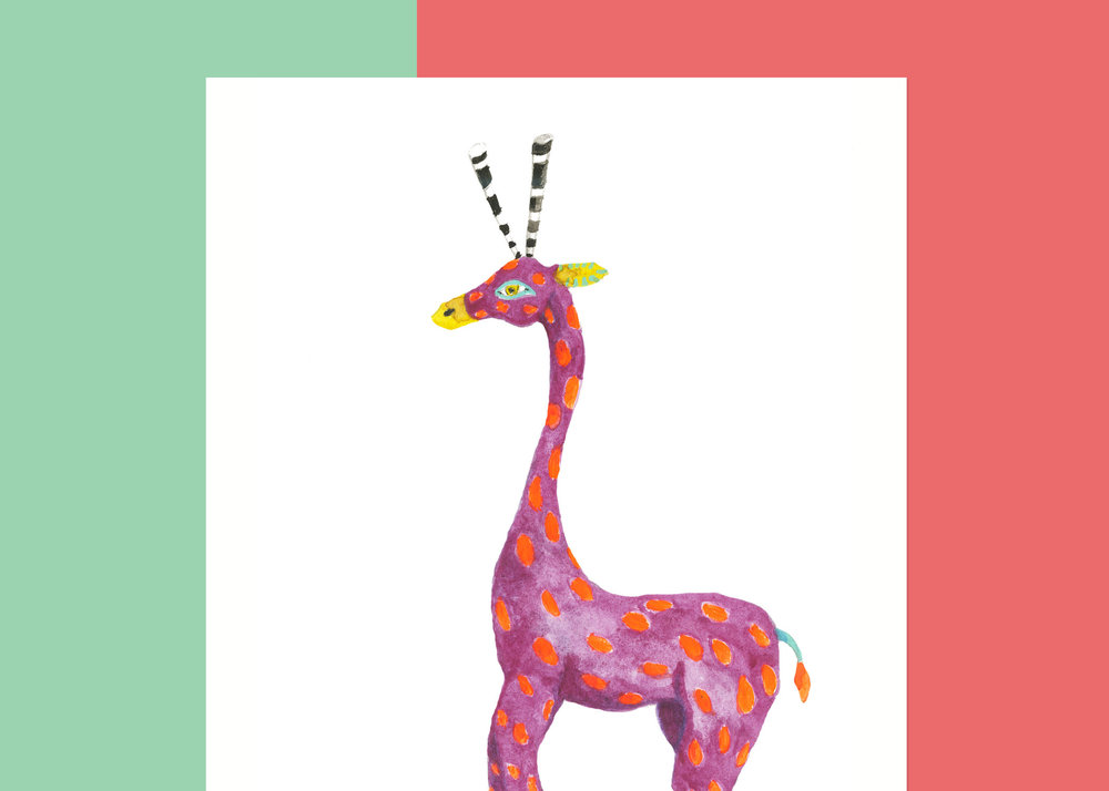 5 X 7 OAXACA GIRAFFE   PRIVATE collection