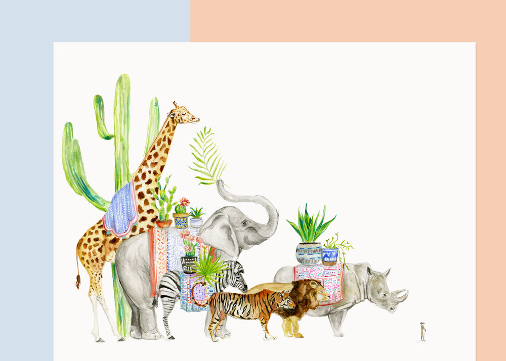 SAFARI PARADE 11 x 14 $____ 16 x 20 $____