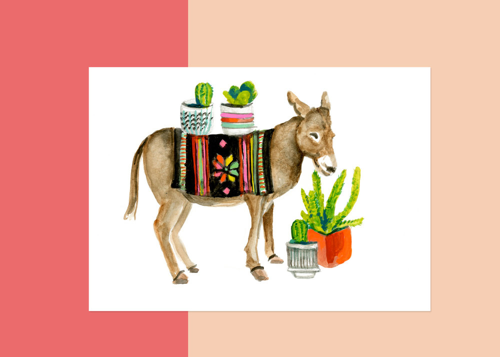 DONKEY with plants-  coming soon