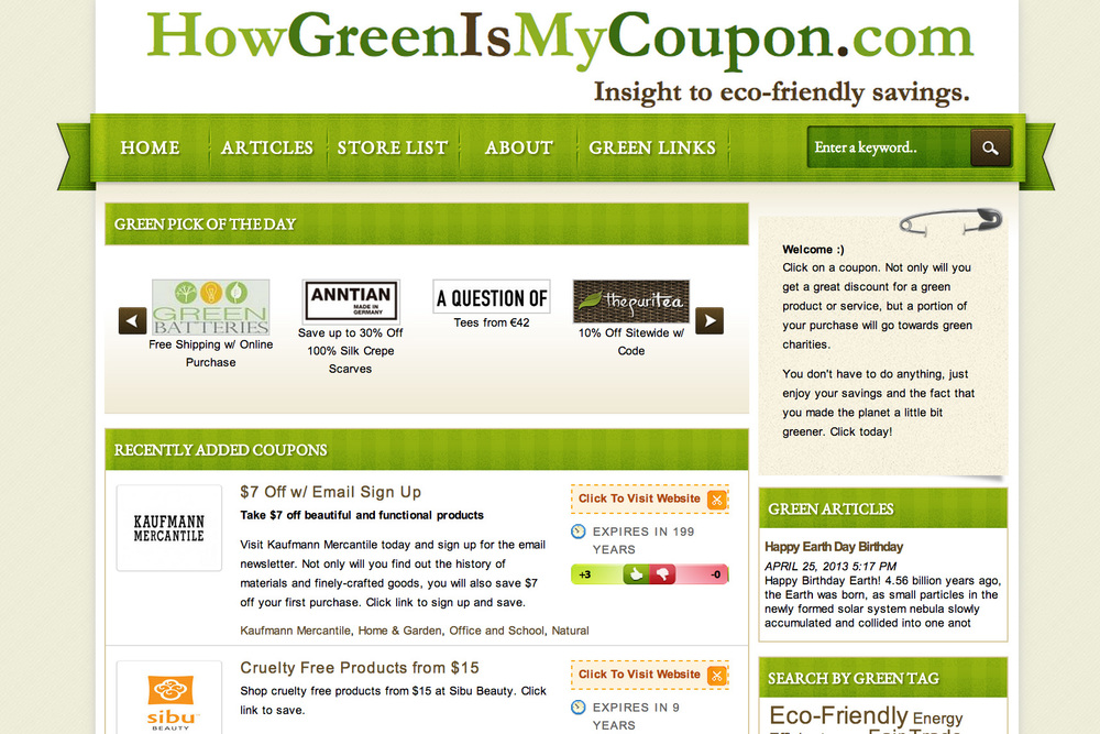 Green ecommerce charity