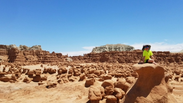 Treyton loving Goblin Valley Utah