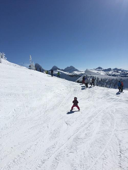 Teach your kids how to ski - grand targhee tetons