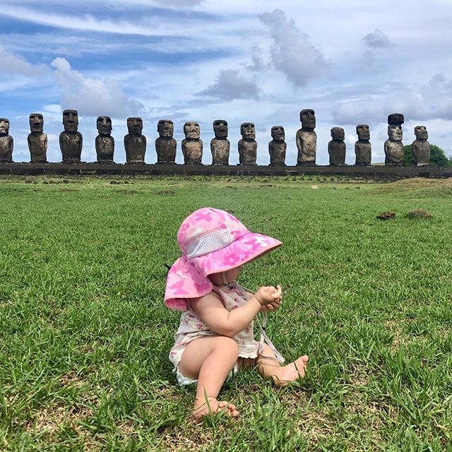 Wow! Our noggins sun hat made it all the way to Easter Island! Thanks for the photo @meghanjward #getoutandplay #easterisland