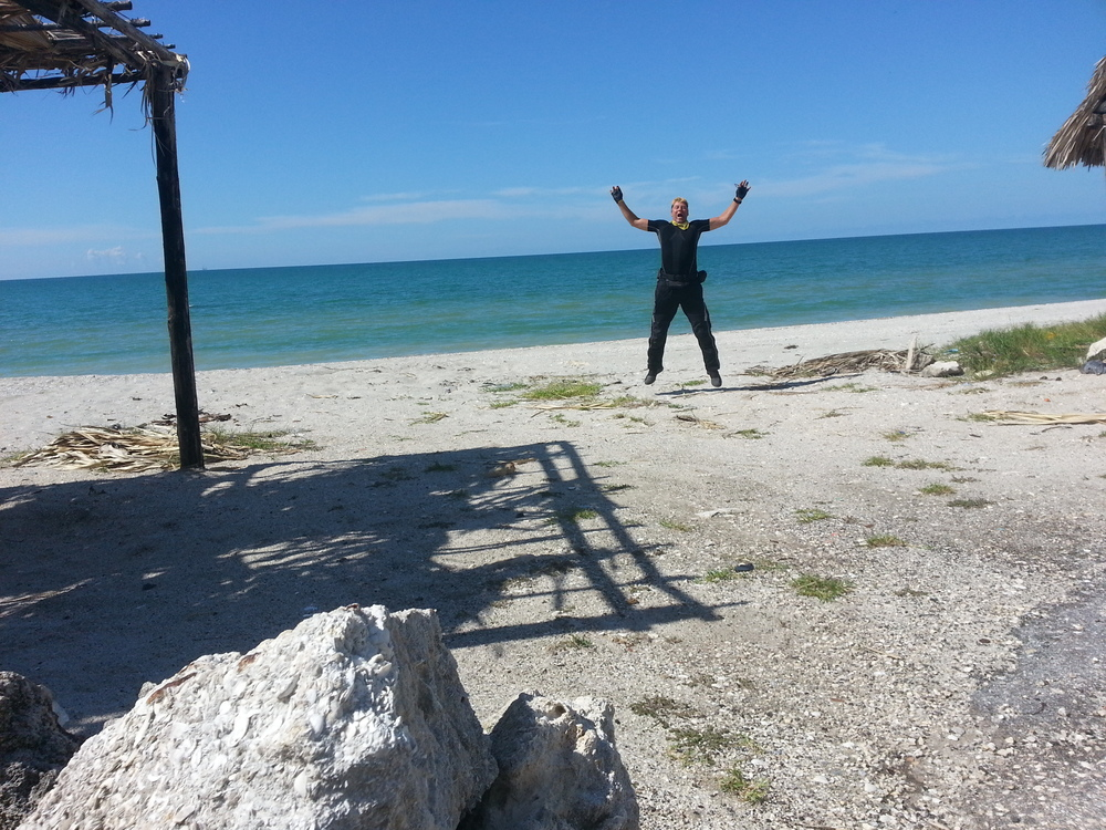 Gulf of Mexico. Had to jump high for this shot...this was on my way down.