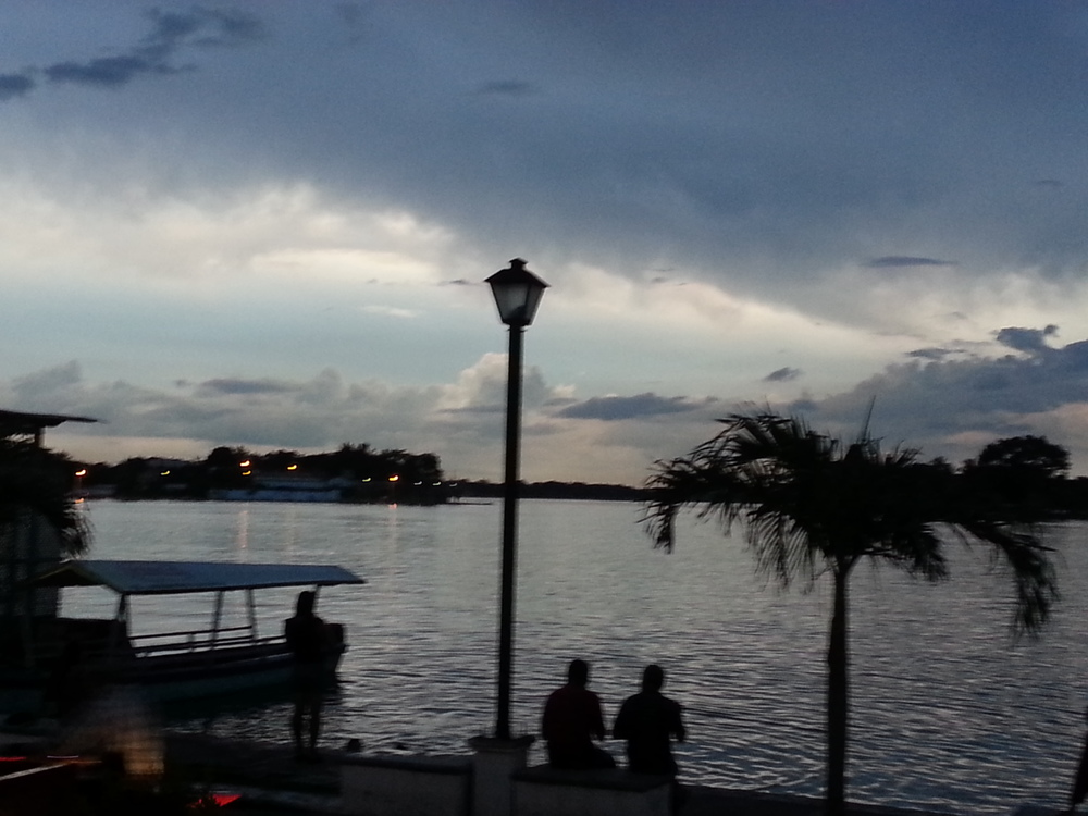Dusk over Lago Peten Itza