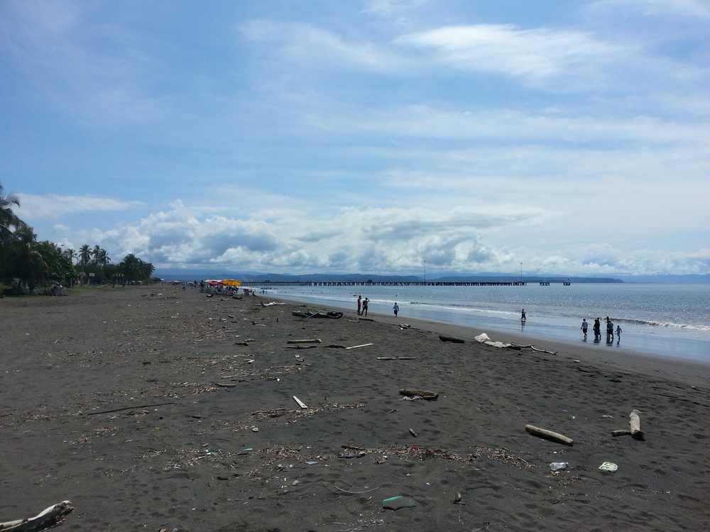 Puntareana beach...a nice clean  beach it is not.