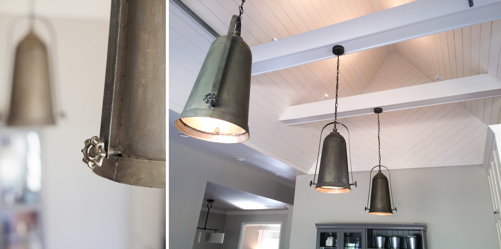 The pendant lights came from ReFresh Home in Franklin, TN