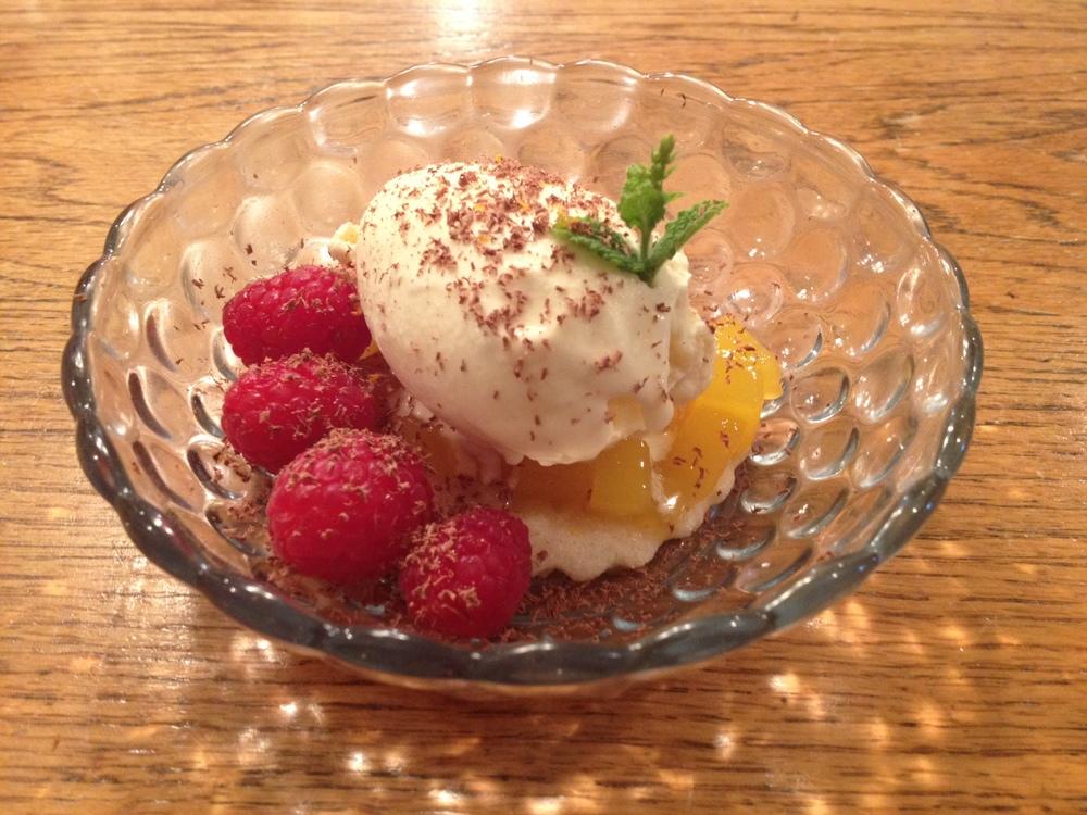 Mango Sour Cream Sherbet