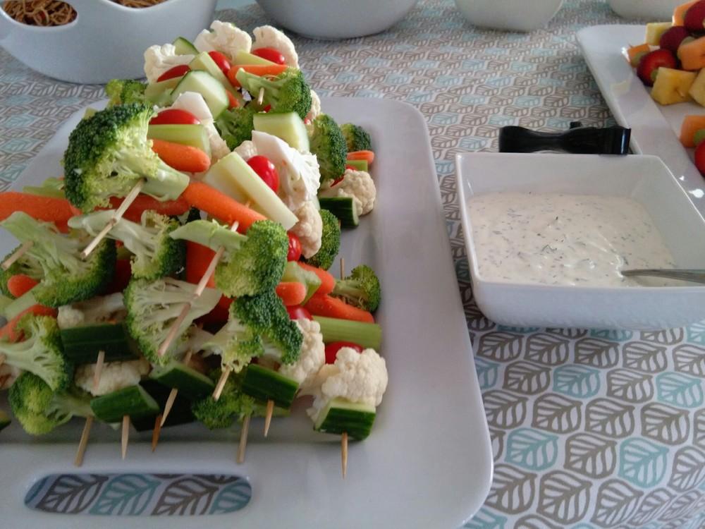 Veggie Skewer w/ Homemade Dill Dip