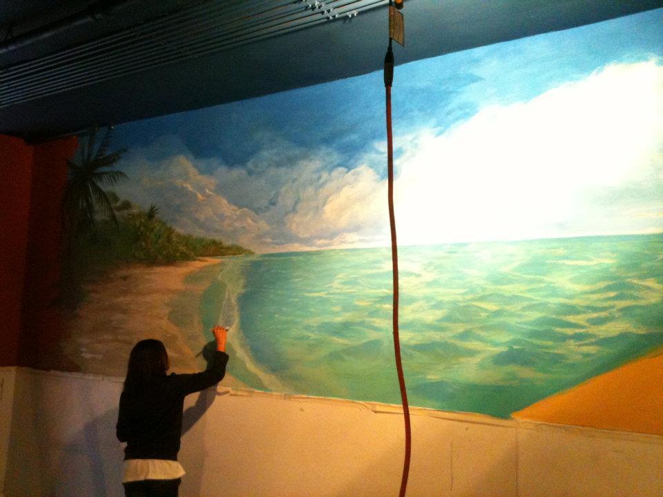 Corona Mural Ocean Wall