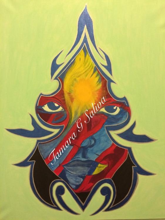 Tamara G Saliva Painting 1