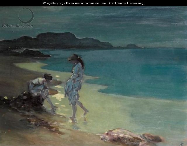 Figures by a Moonlit Sea by George William Russell