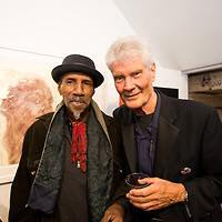 Sam Waymon and Gene Perla at The Amazing Nina exhibit