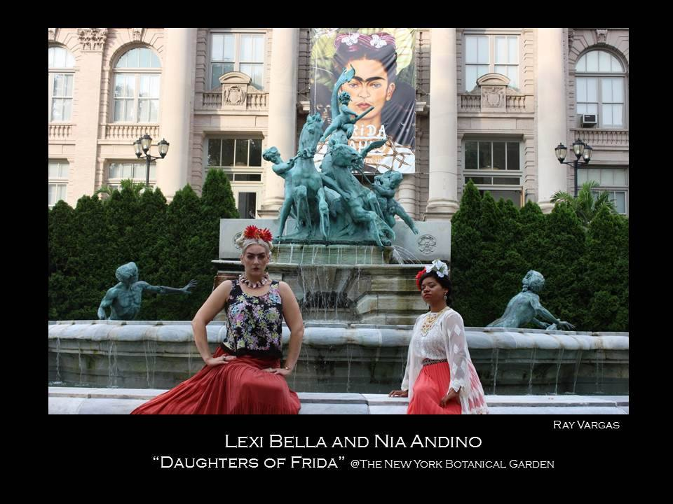 Lexi Bella and Nia Andino as Frida at the NYBG