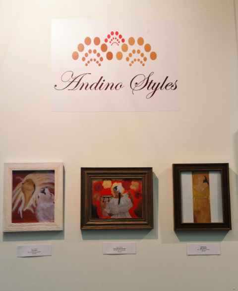 Andino Styles Print Display at Art Expo New York