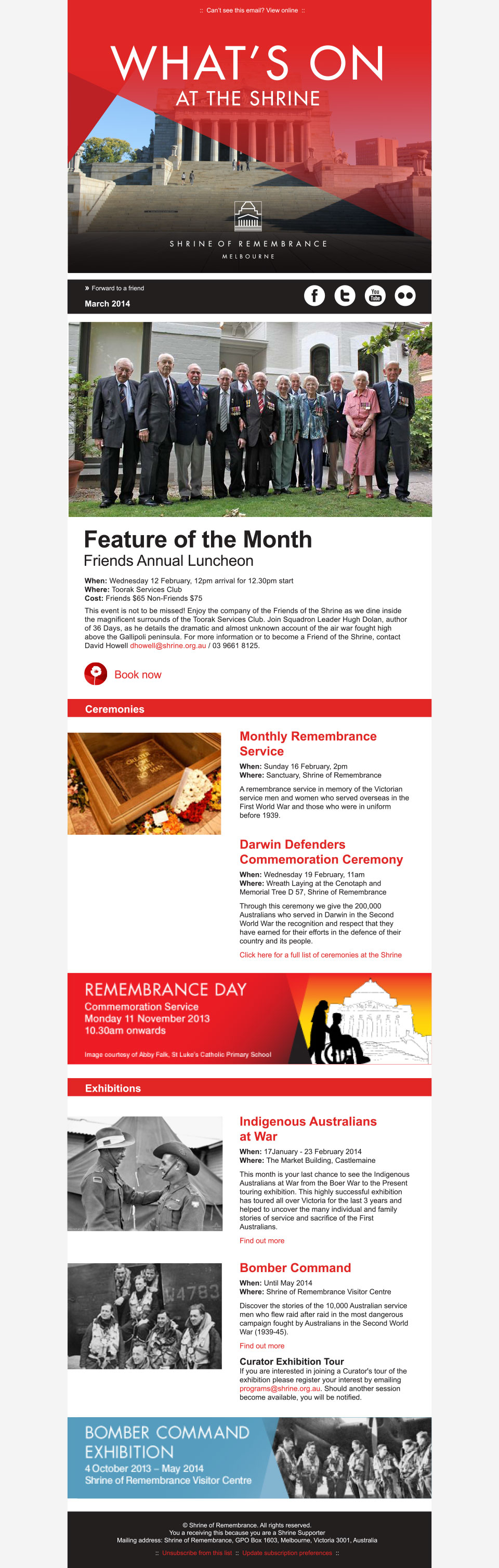 Shrine of Remembrance eNews