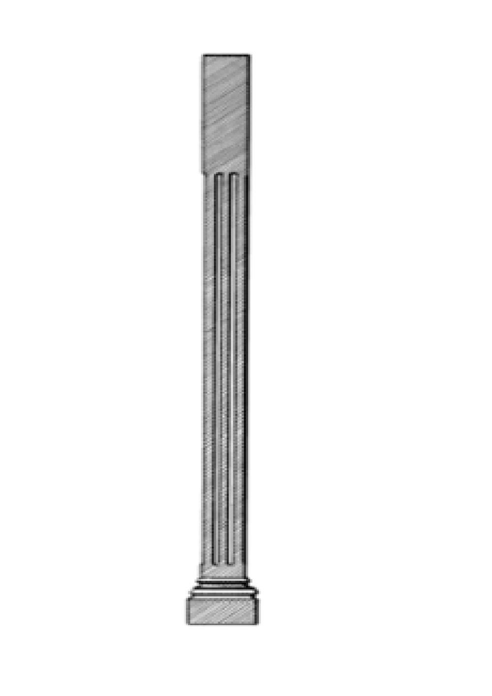 Period Timber Verandah Post V6B