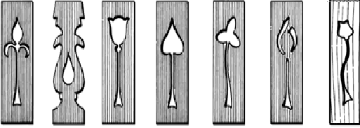 OPTIONAL:  Motifs-Fretwork for FR4 or FR4 Arched   Dimensions: 90x19x235 mm