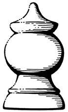 Post Knobs - WINDSOR    Product Code  : C3  Diameters:  86 mm or 108 mm