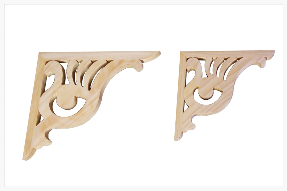Corner Brackets (2 sizes)    Product Code:   CB-9, CB-9S   Thickness:  32  Dimensions:  430 x 480 mm, 325 x 325 RESPECTIVELY