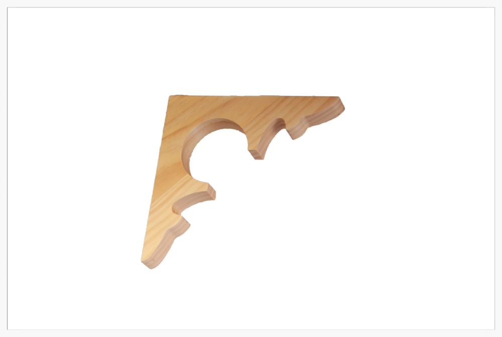 Corner Brackets    Product Code:  CB-26  Thickness:  32  Dimensions:  225 x 225 mm
