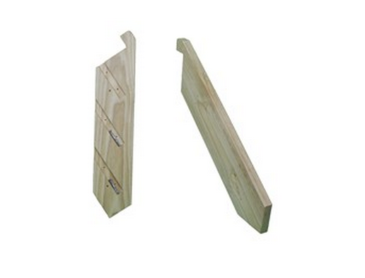 Stringers - CCA Pine   with Batten Screws  PREMIUM  Product Code:  KCPRSTAIR   Made using 290 x 45mm CCA Pine     Measurements:     Height:    330mm    Width:    900mm wide – 5400mm wide    Distance out from   platform 380mm    TREADS NOT INCLUDED