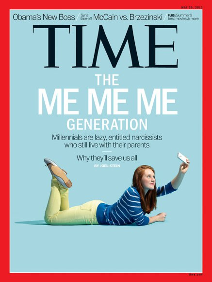 "Time Magazine - ""The Me Me Me Generation"""