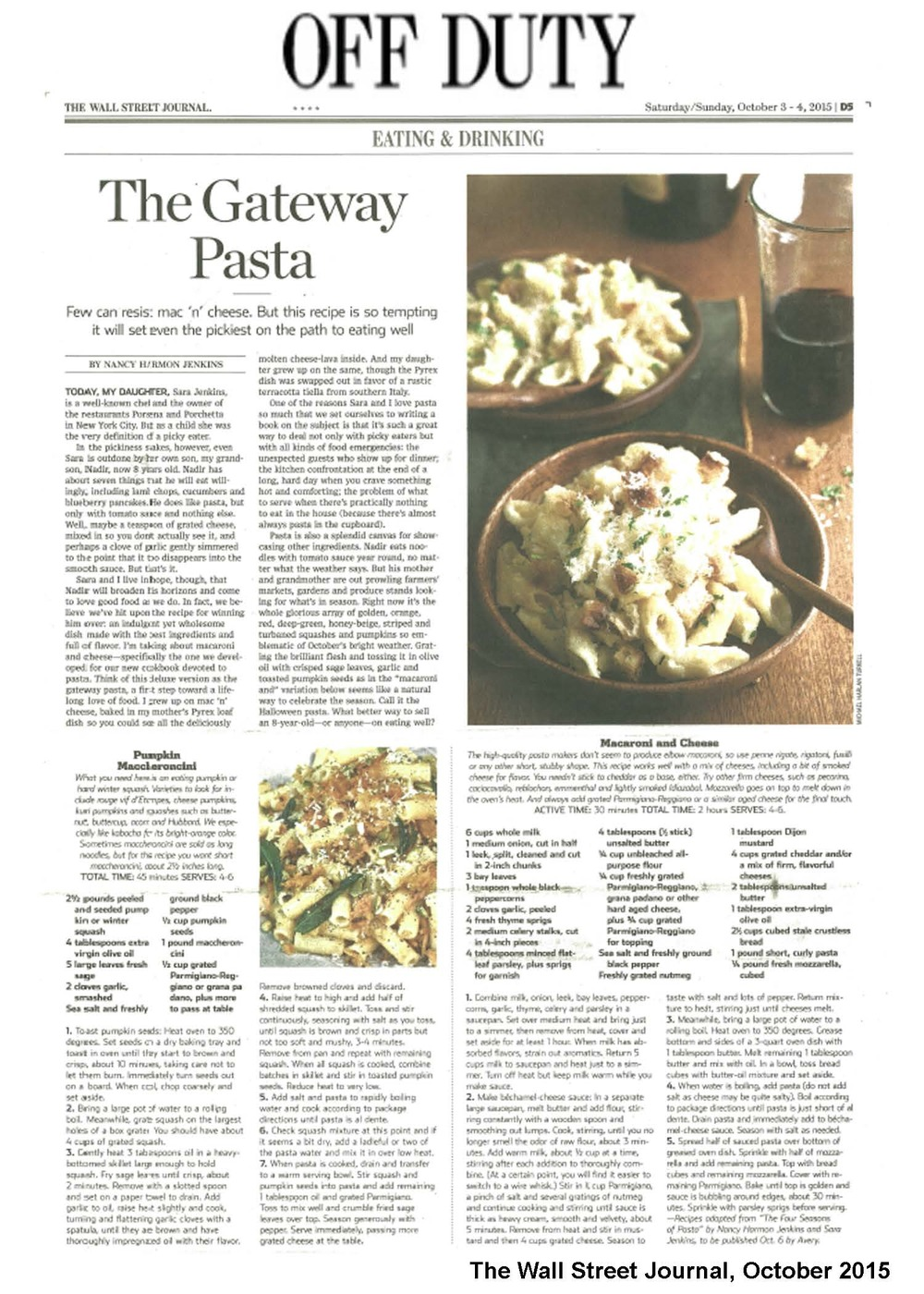 WEBSITE_WSJ Off Duty_Four Seasons of Pasta_October 2015.jpg