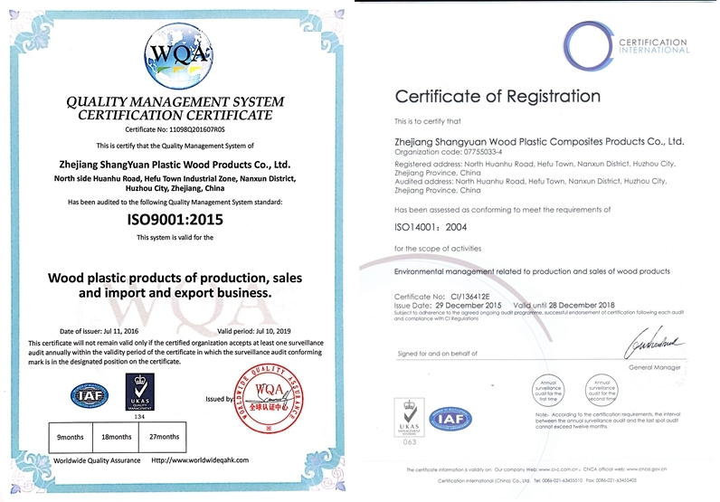 2015,SYWPC pass ISO9001 ISO14001