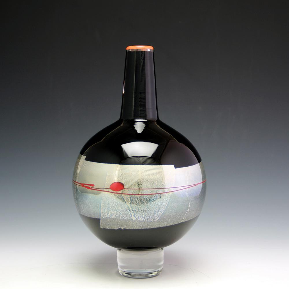 small black globe