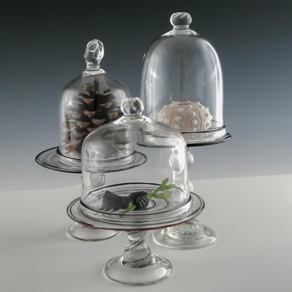 Bell jar pedestals