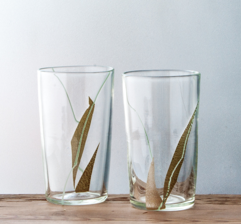GRASS/   the grass series pays homage to that lowly plant beneath our feet that so much of civilization is built upon  using hand cut silver foil each piece is unique    SHOP CUPS