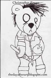 Im A Zombie Teddy Bear Glendon Mellow
