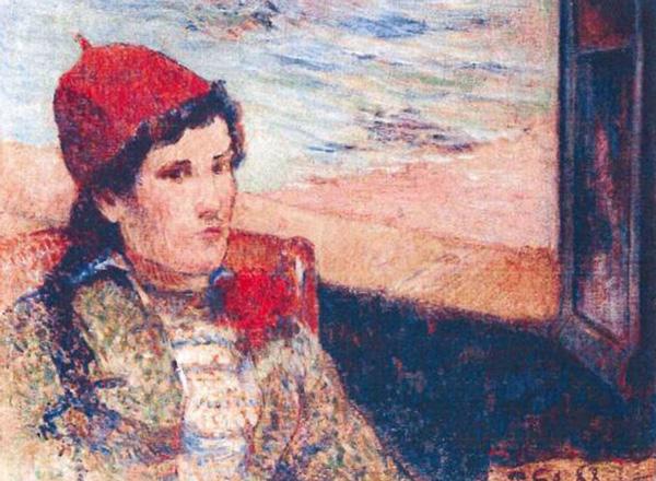 Femme devant une fenêtre ouverte, dite la Fiancée, 1888. Paul Gauguin.