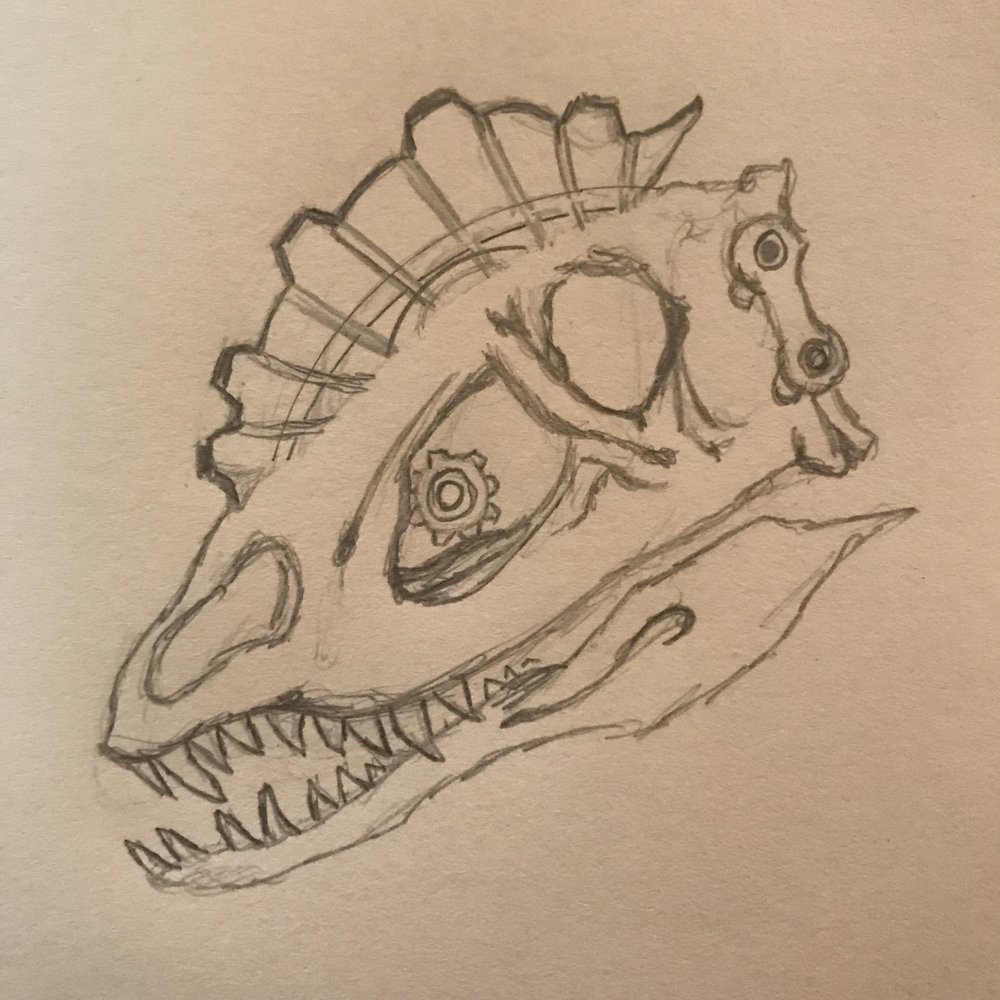 Initial Bicyclophosaurus skull exploration
