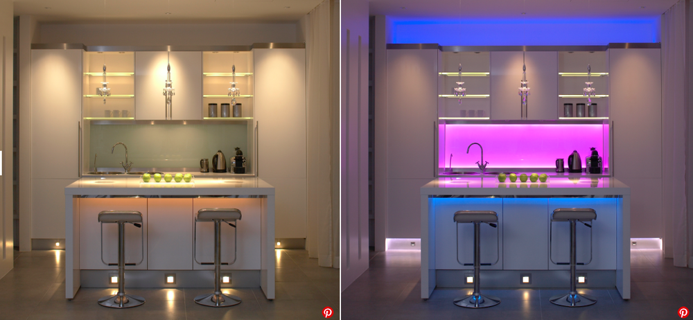 John Cullen using LED lighting with the ability to change color and mood..