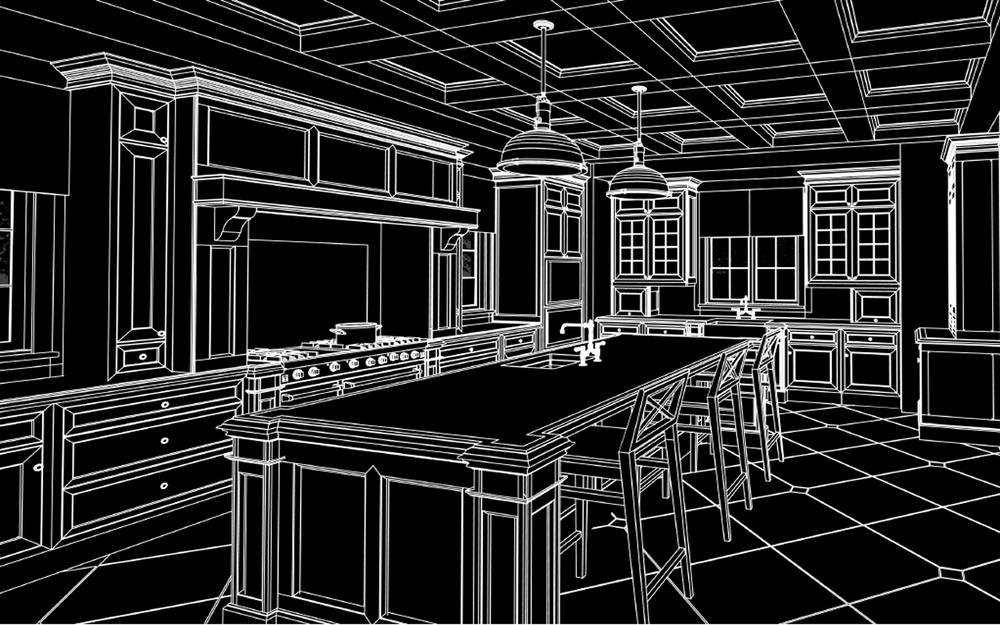 Empire Group. CAD design for Moreno Kitchen Development.