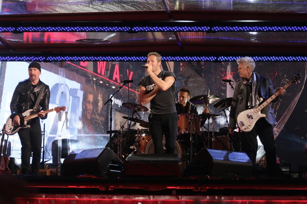 Chris Martin Performs With U2
