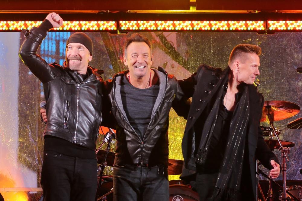 The Edge, Bruce Springsteen, Larry Mullen Jr.