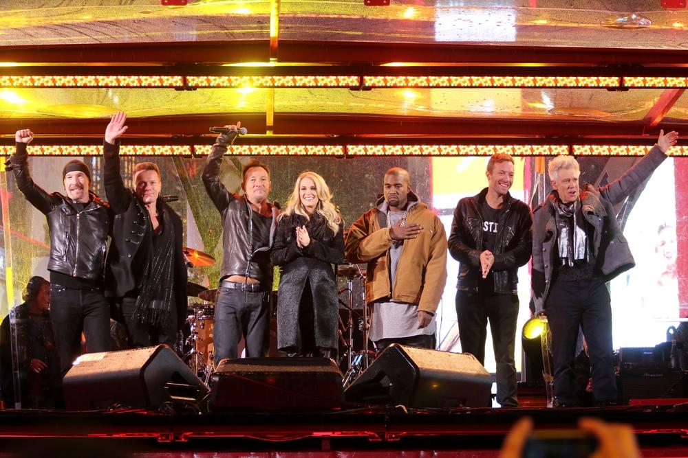 The Edge, Larry Mullen Jr., Bruce Springsteen, Carrie Underwood, Kanye West, Chris Martin, Adam Clayton