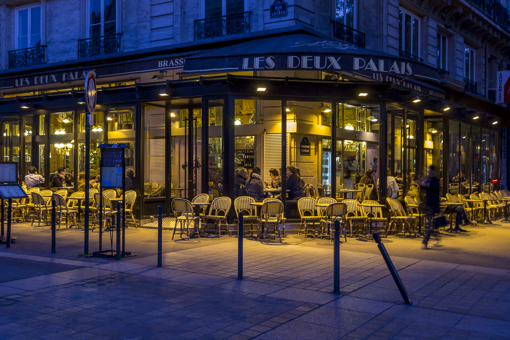 Paris sidewalk cafe