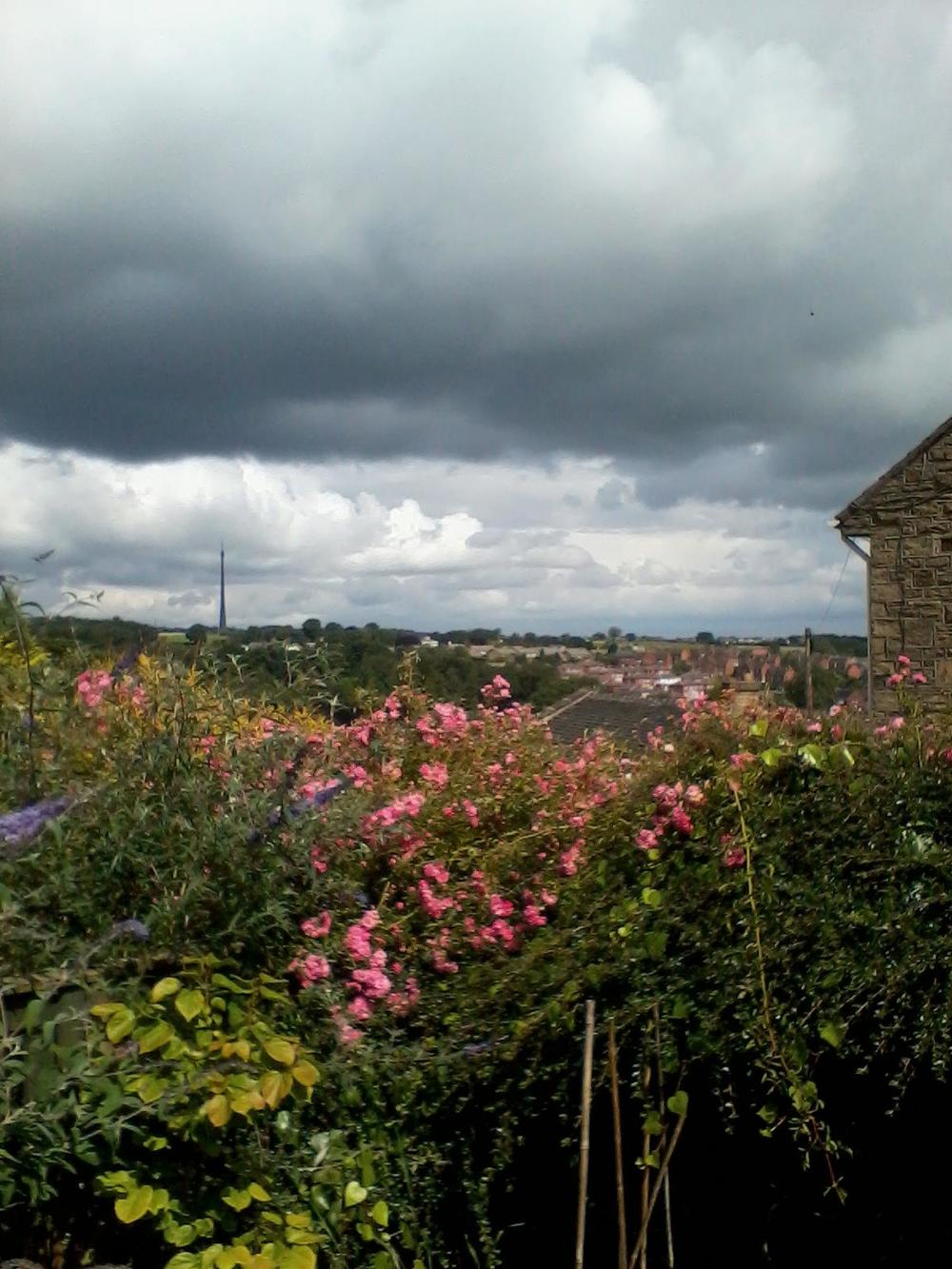 View from Jim's former house in Yorkshire Denby Dale, in the Northern side