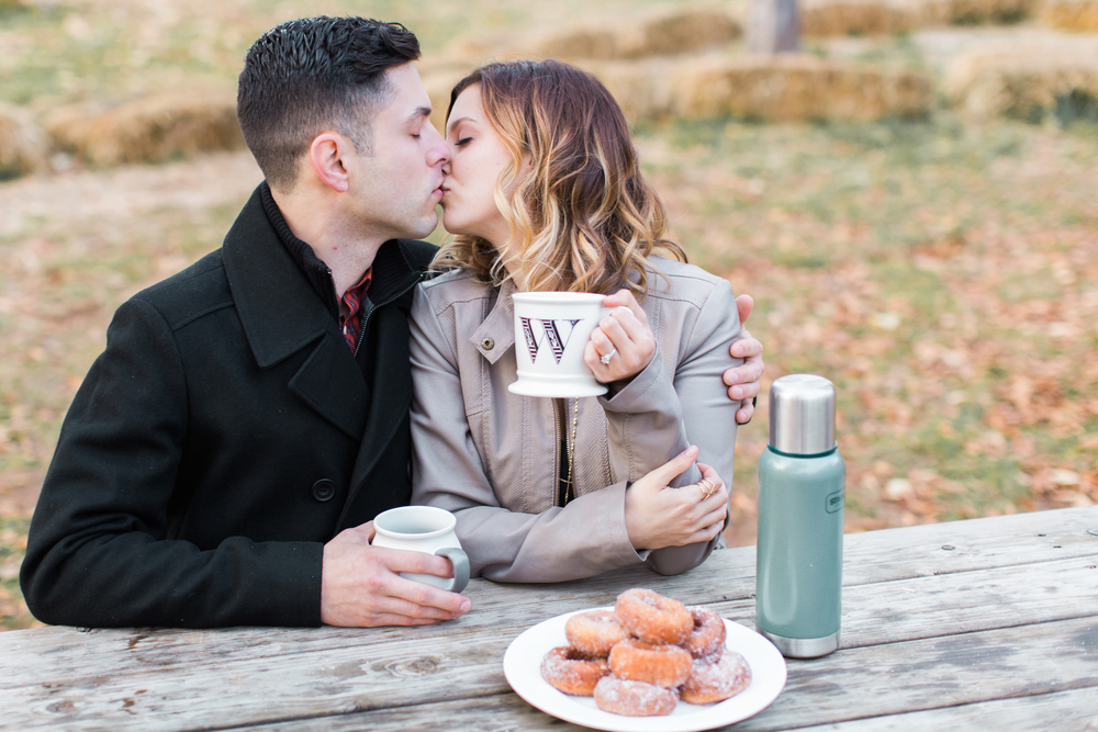 apple-hill-california-apple-donuts-engagement-photography