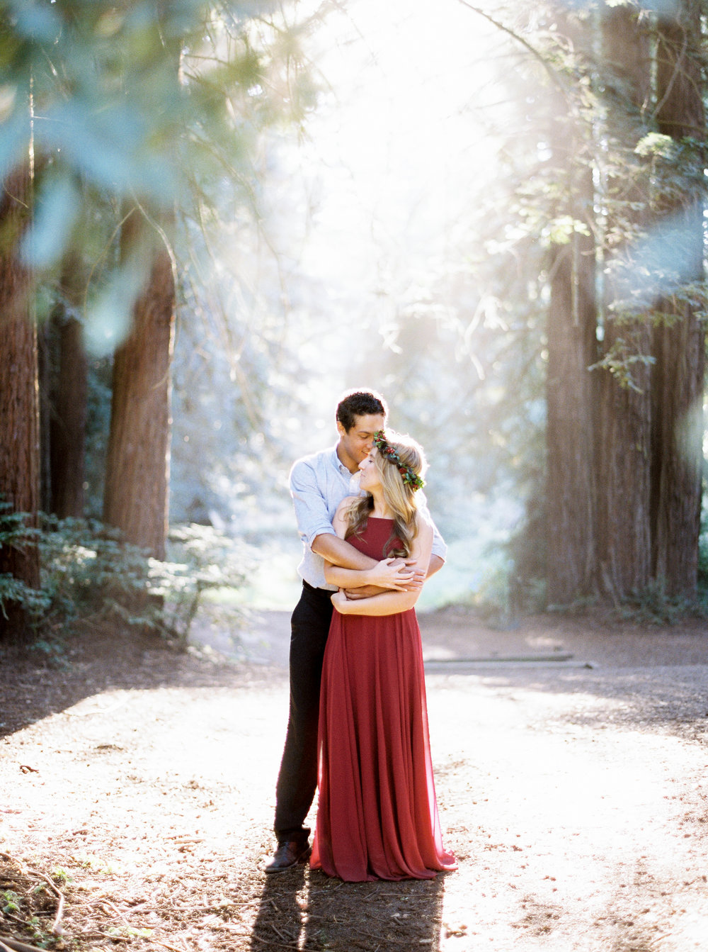 We hired Kristine for our wedding, and just received our engagement pictures back. To say that we are happy with the results would be an understatement. We are thrilled! She made us look amazing! Kristine has a very sweet nature and made us feel so comfortable, and that really came through in the photos. We took our pictures at Redwood Regional Park, which is a huge place. She went to the location early to find the perfect places in terms of light, and views, which was awesome! She found the most incredible spots. Before I worked with her, I was stressed about every element of the wedding venue, constantly wondering where we would take getting ready pictures, pictures with family, etc. I'm not anymore, because I know Kristine's professional/artistic eye will find the perfect spots! We spent a lot of time researching photographers and going through portfolios, and we are so happy with our choice! - -Marysia and Max