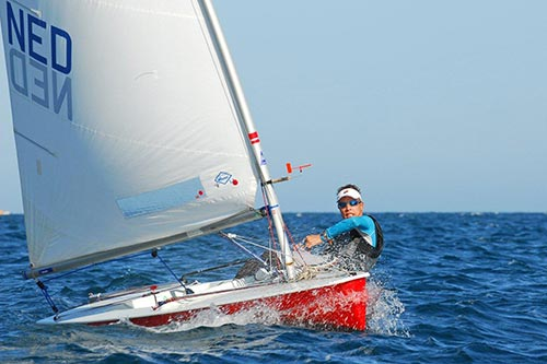 splash dinghy sailing lake garda