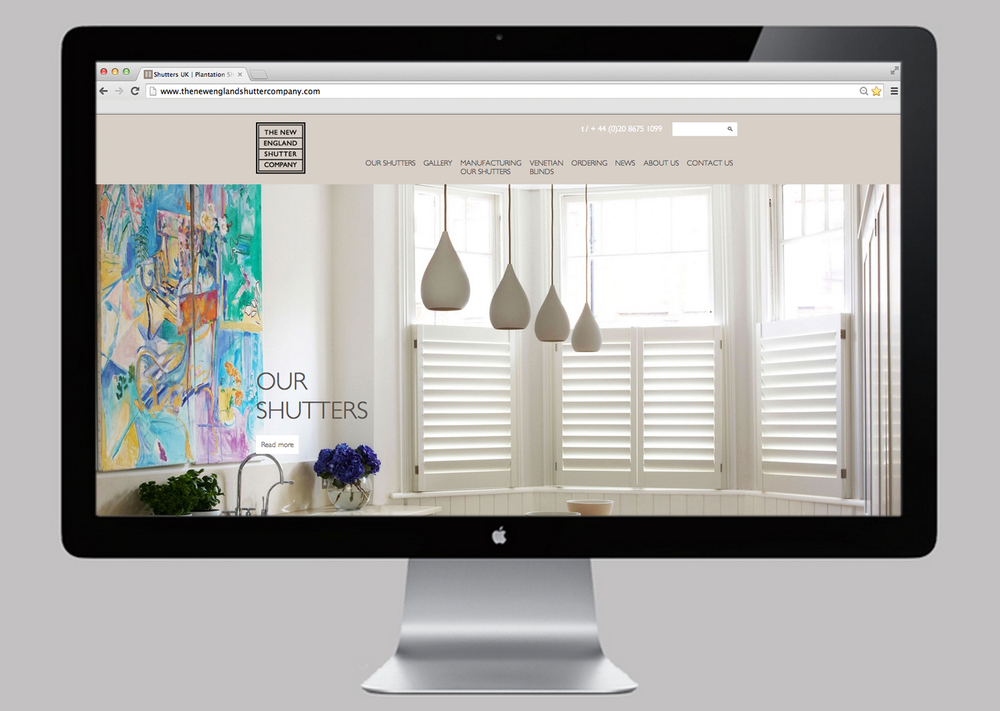 The New England Shutter Company Website
