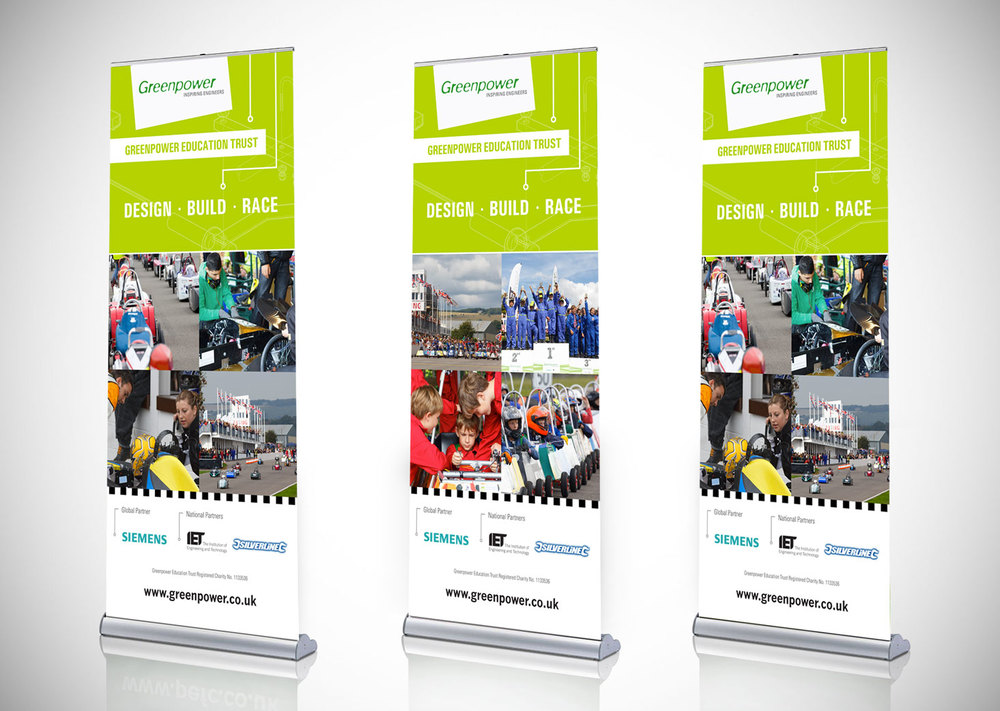 Greenpower Education Trust Exhibition Roller Banners